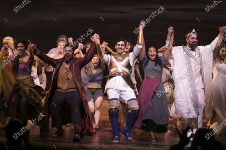 Editorial picture of 'The Prince of Egypt' curtain, Gala Night, London, UK - 25 Feb 2020
