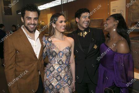 Luke Brady (Moses), Christine Allado (Tzipporah), Liam Tamne (Ramses) and Alexia Khadime (Miriam