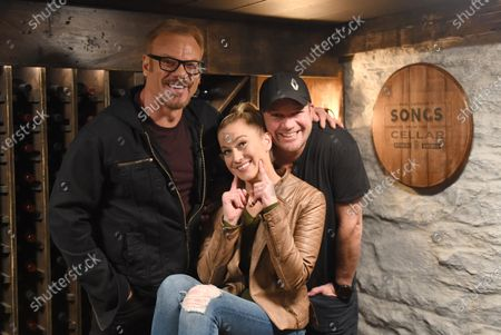 Exclusive -  Kellie Pickler and Kyle Jacobs stop by the Circle Television Network, 'Phil Vassar's Songs from the Cellar', in Nashville, TN