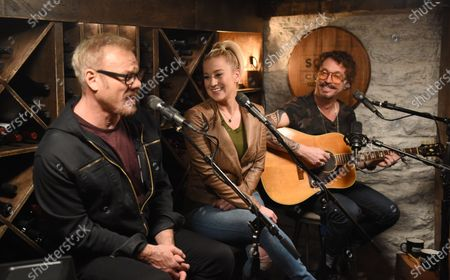 Exclusive -  Kellie Pickler stops by the Circle Television Network, 'Phil Vassar's Songs from the Cellar', in Nashville, TN
