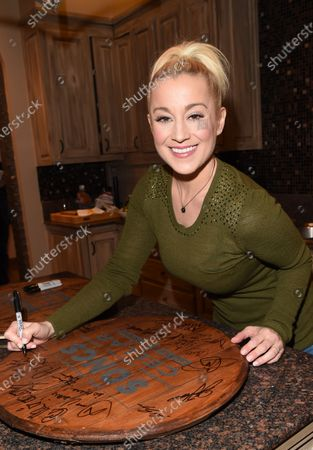 Stock Image of Exclusive -  Kellie Pickler stops by the Circle Television Network, 'Phil Vassar's Songs from the Cellar', in Nashville, TN
