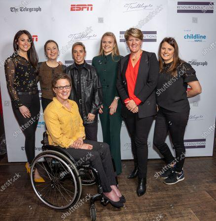 Clare Balding OBE, Jordan Nobbs, Sam Quek, MBE, Emma Wiggs, MBE, Anna Kessel MBE, Harriet Dart, Liz Johnson