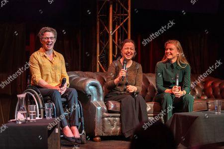 Emma Wiggs, Anna Kessel MBE and Harriet Dart