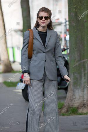 Editorial image of Street Style, Fall Winter 2020, Paris Fashion Week, France - 25 Feb 2020