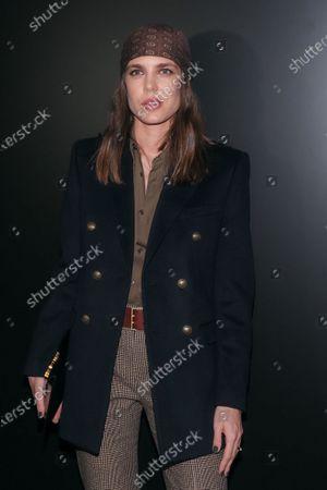 Editorial photo of Saint Laurent show, Front Row, Fall Winter 2020, Paris Fashion Week, France - 25 Feb 2020