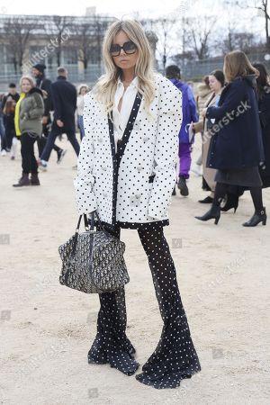 Editorial image of Dior show, Arrivals, Fall Winter 2020, Paris Fashion Week, France - 25 Feb 2020