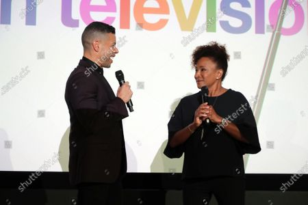 """Wilson Cruz, Executive Producer and Wanda Sykes, Executive Producer, at Apple's """"Visible: Out on Television"""" screening at The West Hollywood EDITION. """"Visible: Out on Television"""" is available to watch now on Apple TV+."""