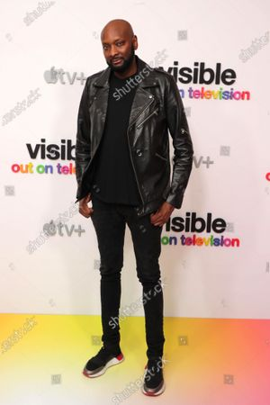"""Patrik-Ian Polk at Apple's """"Visible: Out on Television"""" screening at The West Hollywood EDITION. """"Visible: Out on Television"""" is available to watch now on Apple TV+."""