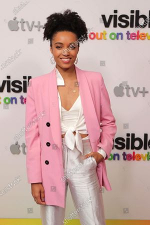 """Stock Image of Maisie Richardson-Sellers at Apple's """"Visible: Out on Television"""" screening at The West Hollywood EDITION. """"Visible: Out on Television"""" is available to watch now on Apple TV+."""