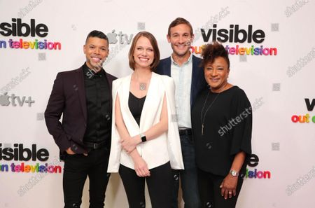 """Wilson Cruz, Executive Producer, Jessica Hargrave Executive Producer, Ryan White, Director/Executive Producer, and Wanda Sykes, Executive Producer, at Apple's """"Visible: Out on Television"""" screening at The West Hollywood EDITION. """"Visible: Out on Television"""" is available to watch now on Apple TV+."""