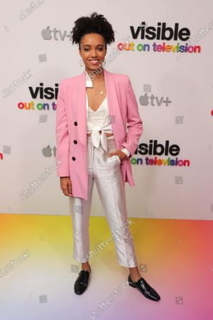 """Maisie Richardson-Sellers at Apple's """"Visible: Out on Television"""" screening at The West Hollywood EDITION. """"Visible: Out on Television"""" is available to watch now on Apple TV+."""