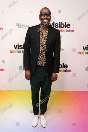 """Stephen Galloway at Apple's """"Visible: Out on Television"""" screening at The West Hollywood EDITION. """"Visible: Out on Television"""" is available to watch now on Apple TV+."""