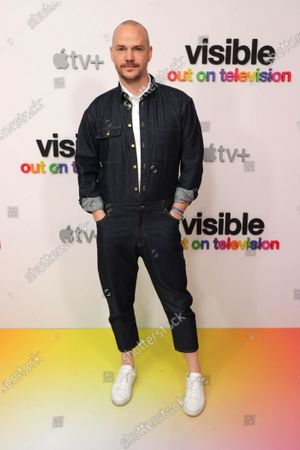 """Peter Paige at Apple's """"Visible: Out on Television"""" screening at The West Hollywood EDITION. """"Visible: Out on Television"""" is available to watch now on Apple TV+."""