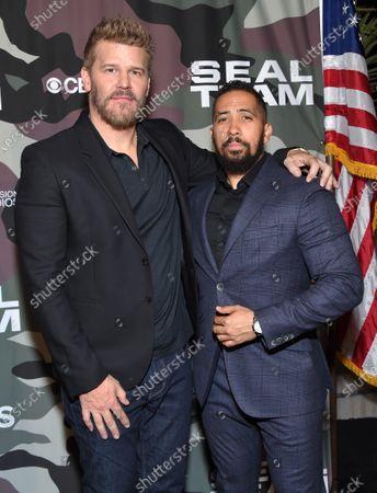Stock Photo of David Boreanaz and Neil Brown Jr.