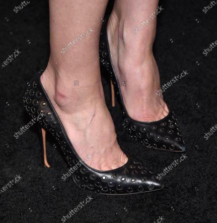 Image libre de droits de Jessica Pare, shoe detail
