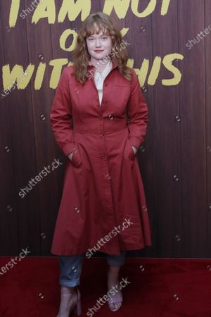 Stock Picture of Liv Hewson arrives at the premiere of the Netflix movie 'I Am Not Okay With This' at The London West Hollywood hotel in Los Angeles, California, USA, 25 February 2020.