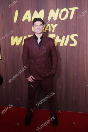 Diego Tinoco arrives at the premiere of the Netflix movie 'I Am Not Okay With This' at The London West Hollywood hotel in Los Angeles, California, USA, 25 February 2020.