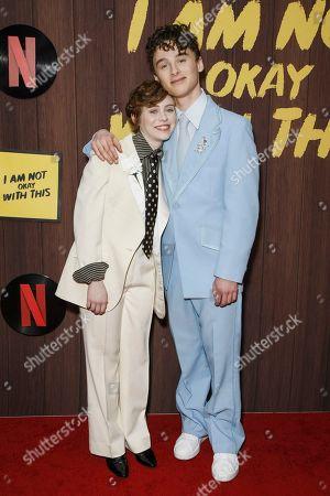 Sophia Lillis and Wyatt Oleff