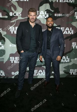 Stock Picture of David Boreanaz and Neil Brown Jr