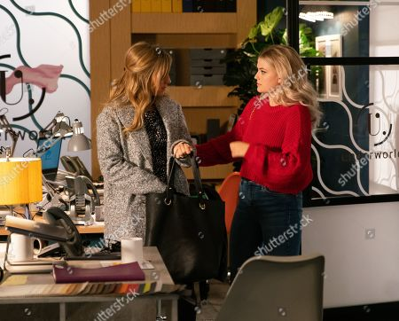 Ep 10014 Monday 24th February 2020 - 1st Ep Bethany Platt, as played by Lucy Fallon, tells Sarah Platt, as played by Tina O'Brien, she believes Ray is blocking all her attempts to get restaurant jobs so Sarah offers her a short-term role setting up Underworld's sales arm.