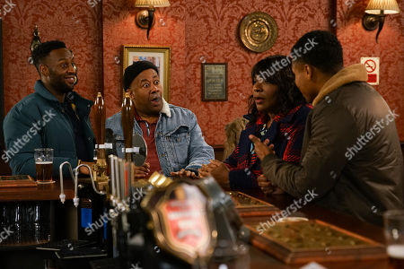 Ep 10025 Friday 6th March 2020 - 2nd Ep Aggie Bailey, as played by Lorna Laidlaw, arrives in the pub and assures Ed Bailey, as played by Trevor Michael Georges, that her first day went well. When James Bailey, as played by Nathan Graham, announces that Aggie has won the Weatherfield Golden Heart award, Ed hugs her, and raises a toast. Aggie's embarrassed at the fuss.