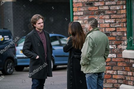 Ep 10031 Friday 13th March 2020 - 2nd Ep After exchanging an emotional farewell, Ali Neeson, as played by James Burrows, leaves the street.