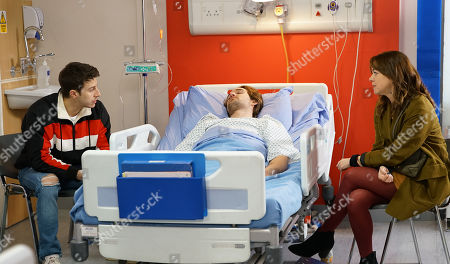 Ep 10027 Monday 9th March 2020 - 2nd Ep Maria Connor, as played by Samia Longchambon, calls at the hospital for news of Ali Neeson, as played by James Burrows. An angry Ryan Connor, as played by Ryan Prescott, blames her for playing him off against Gary.