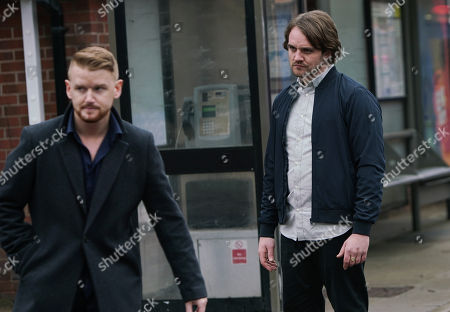 Ep 10029 Wednesday 11th March 2020 - 2nd Ep Gary Windass, as played by Mikey North, confronts Ali Neeson, as played by James Burrows, on the street and warns him to stay away from Maria.