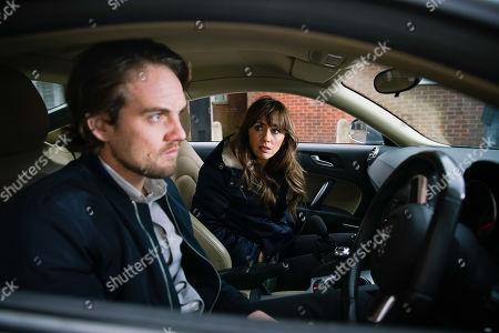 Ep 10028 Wednesday 11th March 2020 - 1st Ep Spotting Ali Neeson, as played by James Burrows. sitting in his car, Maria Connor, as played by Samia Longchambon, climbs into the passenger seat and quizzes him about his overdose. Maria's horrified when Ali locks her in and tells her how he suspects Gary spiked his drink. As Maria pulls fruitlessly at the door handle, Ali starts the car.