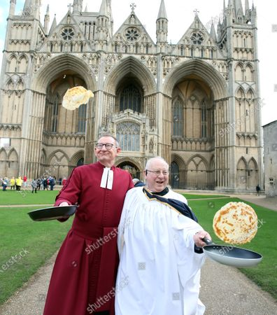 Stock Picture of Dean of Peterborough, Chris Dalliston (left), and head verger David Wood