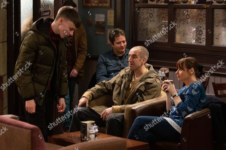 Ep 8755 Thursday 12th March 2020 - 1st Ep Samson Dingle, as played by Sam Hall, asks Sam Dingle, as played by James Hooton, and Lydia Hart, as played by Karen Blick, if he can go on a school trip but Sam and Lydia say they can't afford it.