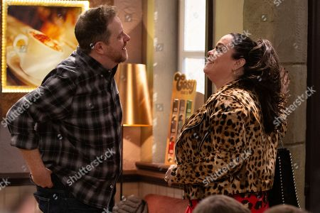 Ep 8755 Thursday 12th March 2020 - 1st Ep Dan Spencer, as played by Liam Fox, and Mandy Dingle, as played by Lisa Riley, agree to go on a date with one another.