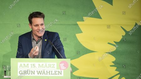Bavarian Alliance 90/The Greens party leader Ludwig Hartmann speaks during the Political Ash Wednesday gathering of the Greens party in Landshut, Germany, 26 February 2020. All major German political parties traditionally hold rallies on Ash Wednesday.