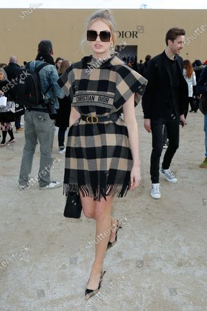 Editorial image of Dior show, Arrivals, Fall Winter 2020, Paris Fashion Week, France - 25 Feb 2020