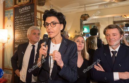Stock Picture of Herve Morin, Rachida Dati, Nelly Garnier and Francois Baroin.