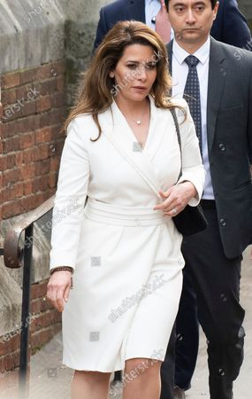 Princess Haya of Jordan is arriving at the Court of Appeal