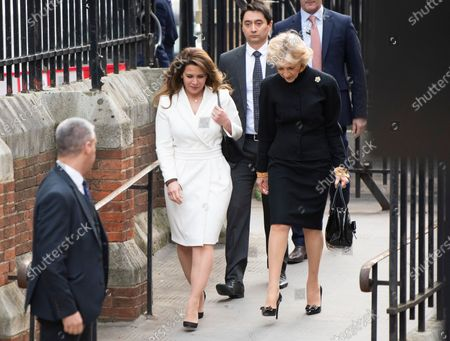 Princess Haya of Jordan is arriving at the Court of Appeal in London with her legal representative Baroness Fiona Shackleton