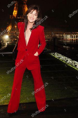 Charlotte Gainsbourg attending the Saint Laurent show