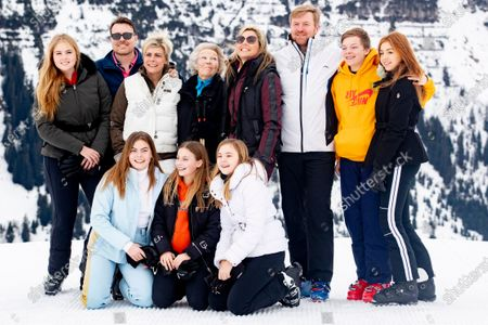 King Willem-Alexander, Queen Maxima, Princess Amalia, Princess Alexia, Princess Ariane, Princess Beatrix, Prince Constantijn, Princess Laurentien, Countess Eloise, Count Claus-Casimir and Countess Leonore