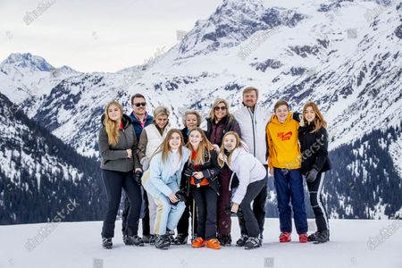 King Willem-Alexander, Queen Maxima with children Princess Amalia, Princess Alexia, Princess Ariane and Princess Beatrix, Prince Constantijn, Princess Laurentien and their children, Countess Eloise, Count Claus-Casimir and Countess Leonore