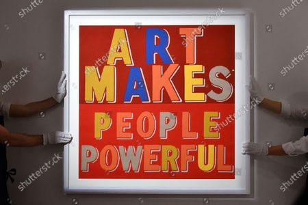 Bob and Roberta Smith, Art Makes People Powerful, 2019