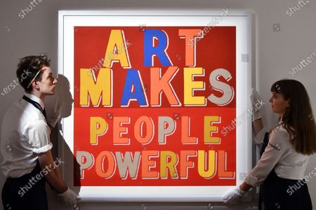 Stock Photo of Bob and Roberta Smith, Art Makes People Powerful, 2019