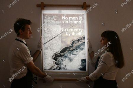 Wolfgang Tillmans, No Man Is An Island cushion, 2020