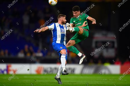 Morgan Gibbs-White Wolverhampton Wanderers and David Lopez of RCD Espanyol