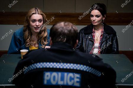 Aimee Lou Wood as Aimee Gibbs, Neil Maskell as Police Officer and Emma Mackey as Maeve Wiley