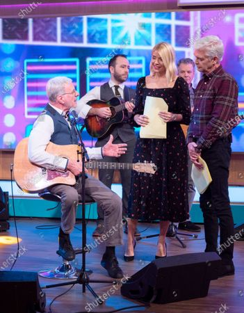 Phillip Schofield and Holly Willoughby with Steve Harley