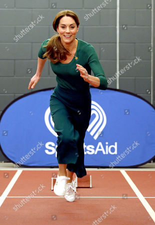 Catherine Duchess of Cambridge, during a SportsAid event at the London Stadium in Stratford