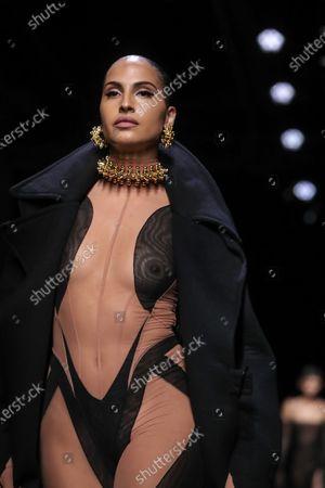 Editorial photo of Thierry Mugler - Runway - Paris Fashion Week Women's F/W 2020/21, France - 26 Feb 2020