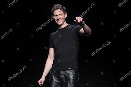 US designer Casey Cadwallader appears on the runway after the presentation of his collection for Thierry Mugler fashion house during the Paris Fashion Week, in Paris, France, 26 February 2020. The presentation of the Fall-Winter 2020/21 women's collection runs from 24 February to 03 March 2020.