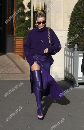Editorial picture of Hailey Bieber out and about, Paris Fashion Week, France - 26 Feb 2020